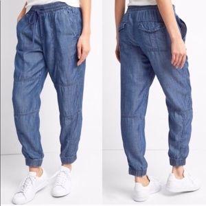 GAP | Chambray Jogger Drawstring Pants S